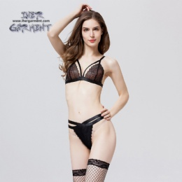 High-end lace sexy two piece new set women lingerie IH-B676